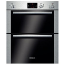 Bosch HBN13B251B Built Under Brushed Steel 3D Hot Air Double Oven