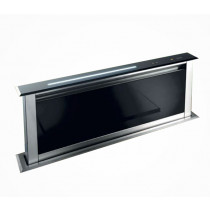 Best Lift 60 Downdraft kitchen extractor Black Glass