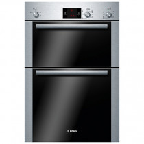 Bosch HBM13B251B Serie 6 Built In 2 Function Double Oven Brushed Steel
