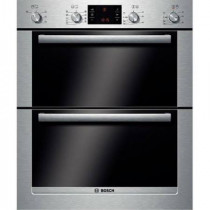 Bosch HBN43B250B Built Under Brushed Steel Double Oven
