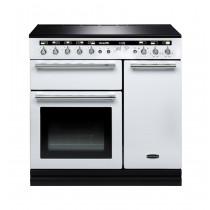 Rangemaster Hi-Lite Induction 90 White Range Cooker 104460