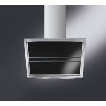 Smeg KCV9NE 90 Black Glass Angled Chimney Hood