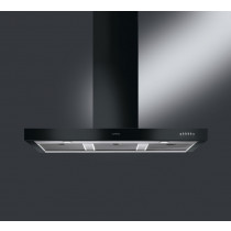 Smeg Symphony 110 Black Chimney Hood