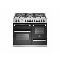Bertazzoni Master 100 Triple Oven Dual Fuel Matt Black Range Cooker MAS100-6-MFE-T-NEE