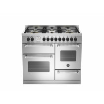 Bertazzoni Master 100 Triple Oven Dual Fuel Stainless Steel Range Cooker MAS100-6-MFE-T-XE