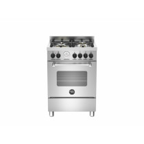 Bertazzoni Master 60 Single Oven Dual Fuel Stainless Steel Range Cooker MAS60-4-MFE-S-XE