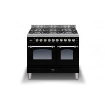 Ilve Milano 100 Twin Dual Fuel Black Range Cooker (Coup de Feu)