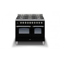 Ilve Milano 100 Twin Dual Fuel Black Range Cooker