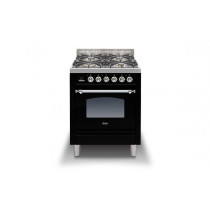 Ilve Milano 60 Single Dual Fuel Black Range Cooker