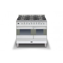 Ilve Moderna 100 Stainless Steel Twin Dual Fuel 6 Burner Range Cooker