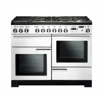 Rangemaster Professional Deluxe 110 Dual Fuel White Range Cooker 98940