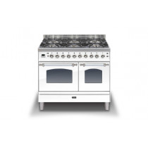Ilve Milano 100 Twin Dual Fuel White Range Cooker