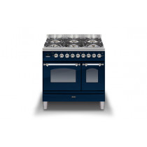 Ilve Milano 90 Twin Dual Fuel Blue Range Cooker (Gas 4 burner and Fry top)