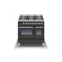 Ilve Milano 90 Twin Dual Fuel Graphite Range Cooker (Gas 4 burner and Fry top)