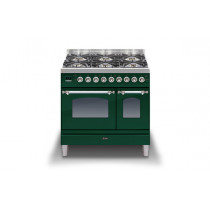 Ilve Milano 90 Twin Dual Fuel Green Range Cooker (Gas 4 burner and Fry top)