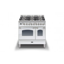 Ilve Milano 90 Twin Dual Fuel Stainless Steel Range Cooker (Gas 4 burner and Fry top)