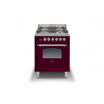 Ilve Milano 60 Single Dual Fuel Burgundy Range Cooker