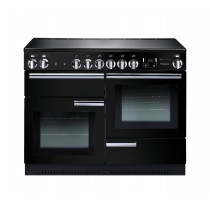 Rangemaster Professional Plus 110 Induction Black Range Cooker 91780