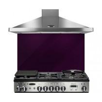Rangemaster 90 Glass Splashback Purple