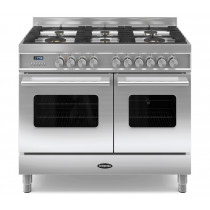 Britannia Delphi 100 Twin - 6 Dual Fuel Burners Stainless Steel Range Cooker