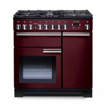 Rangemaster Professional Deluxe 90 Dual Fuel Cranberry Range Cooker 97620