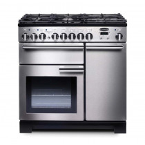 Rangemaster Professional Deluxe 90 Dual Fuel Stainless Steel Range Cooker PDL90DFFSS/C 97590