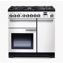 Rangemaster Professional Deluxe 90 Dual Fuel White Range Cooker 98960
