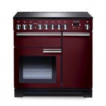 Rangemaster Professional Deluxe 90 Induction Cranberry Range Cooker 97890