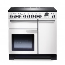 Rangemaster Professional Deluxe 90 Induction White Range Cooker PDL90EIWH/C 98740