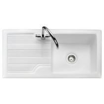 Rangemaster Portland 1 Bowl Sink - White - CPL10101WH/