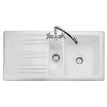 Rangemaster Portland 1.5 Bowl Sink - White - CPL10102WH/