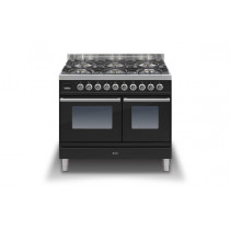 Ilve Roma 100 Twin Dual Fuel Black Range Cooker (4 burner and fry top)