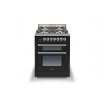 Ilve Roma 70 Twin Dual Fuel Black Range Cooker