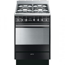 Smeg Concert 60 Dual Fuel Black Single Cavity Range Cooker