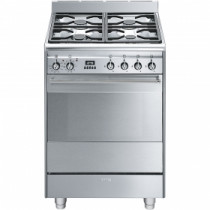 Smeg Concert 60 Dual Fuel Stainless Steel Pyrolytic Range Cooker