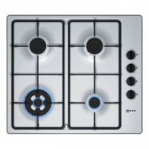 Neff T26BR56N0 60 Stainless Steel Gas Hob with Wok Burner