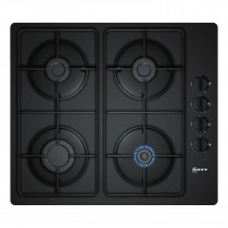 Neff N30 60 Black Tempered Glass Gas Hob T26CR48S0