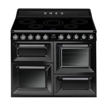 Smeg Victoria 110 Gloss Black Induction Range Cooker