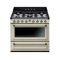 Smeg Victoria 90cm Cream Dual Fuel Single Oven Range Cooker