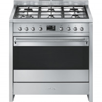 Smeg Opera 90 Dual Fuel Stainless Steel Range Cooker