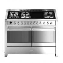Smeg Opera 120 Dual Fuel Stainless Steel Range Cooker