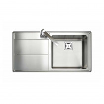 Rangemaster Arlington Single Bowl Stainless Steel Sink Left