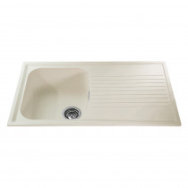 CDA 500mm Reversible Composite Single Bowl Cream Sink AS1CM