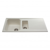 CDA 600mm Reversible Composite One and Half Bowl Cream Sink AS2CM