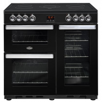 Belling Cookcentre 90cm Ceramic Black Range Cooker