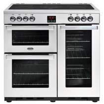 Belling Cookcentre 90cm Ceramic Professional Stainless Steel Range Cooker