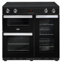 Belling Cookcentre 90cm Induction Black Range Cooker