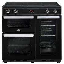 Belling Cookcentre 90cm Induction Black Range Cooker