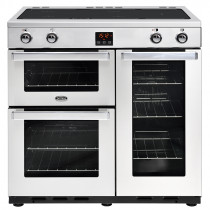 Belling Cookcentre 90cm Induction Professional Stainless Steel Range Cooker