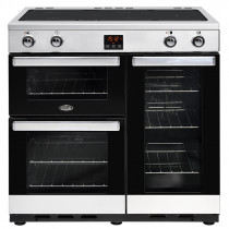 Belling Cookcentre 90cm Induction Stainless Steel Range Cooker